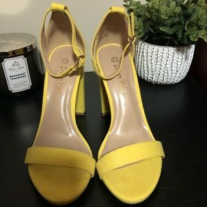 Dream Paris Yellow Heels